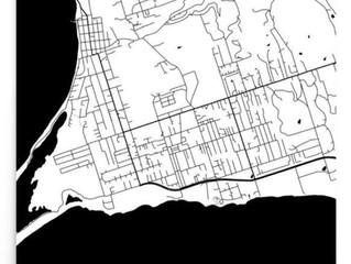 St. Croix Modern Map Art