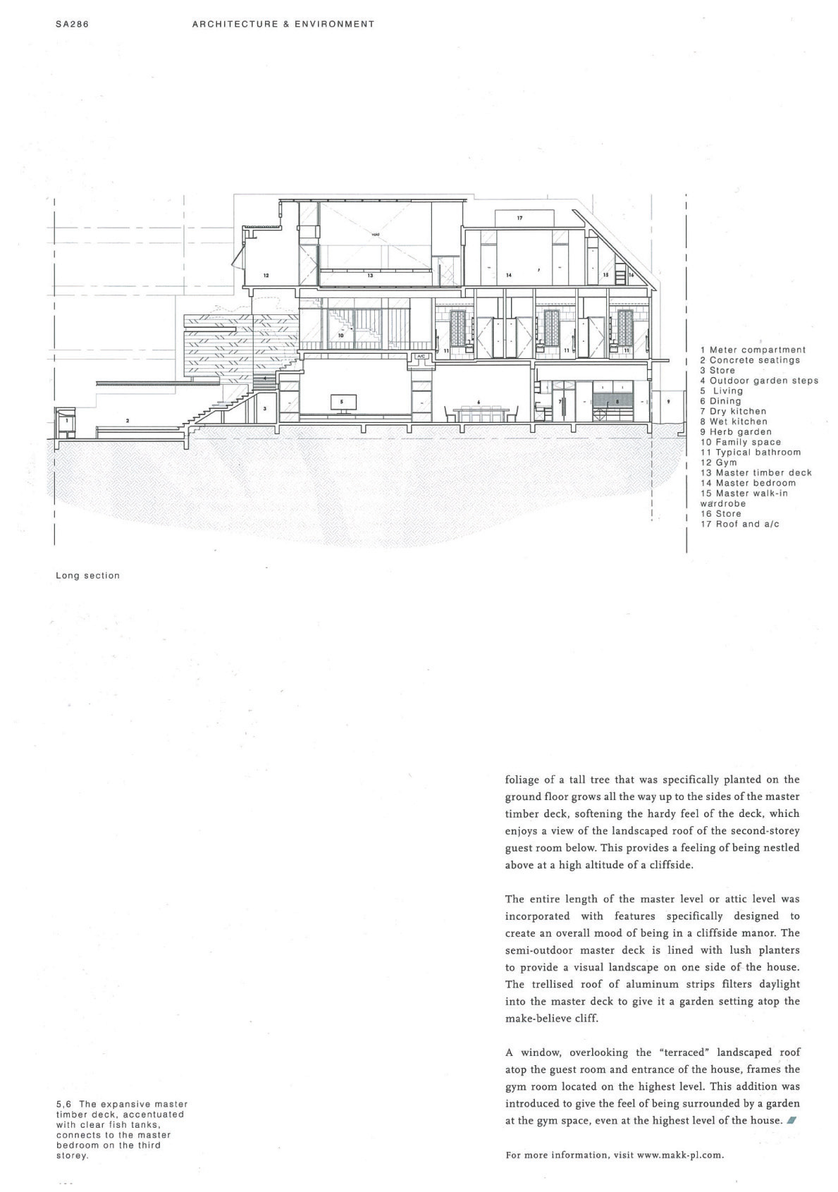 Makk Architects Publication In Diagram 7 Below 6 Layout For Roof Level Crowhurst Drive