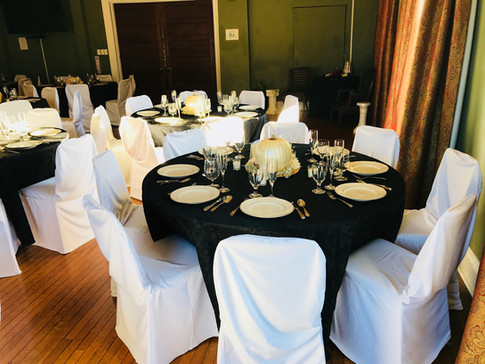 Pumpkin themed wedding receptino in our banquet hall.