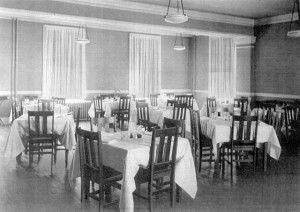 Our large banquet hall in 1953.