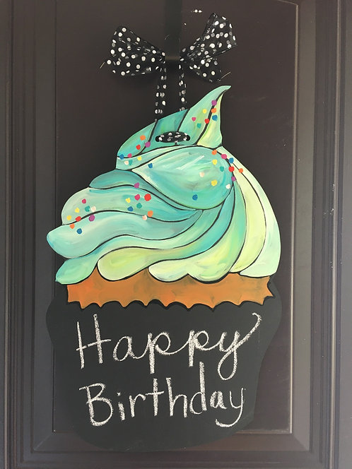 Teal Lime Cupcake
