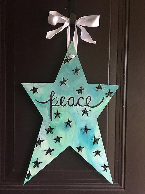 Peace Star Teal