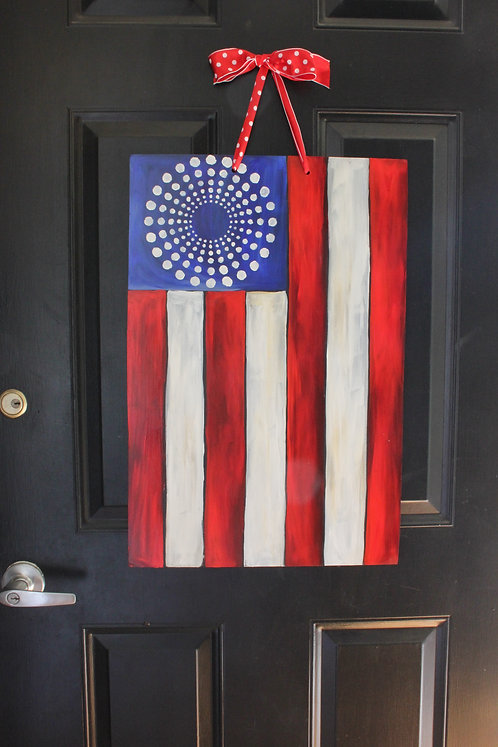 American Flag with Vintage Stars