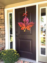 Fall Leaf Door Hanger