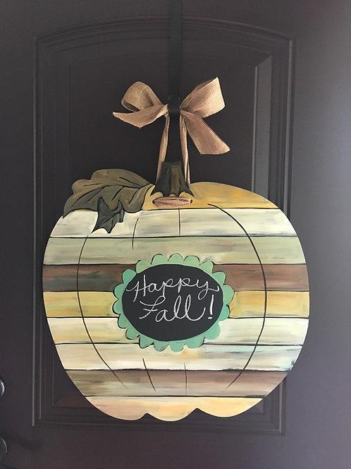 Painted Board Pumpkin