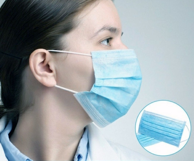 HYGIENE MASK SURGICAL TYPE 50 PIECES PER PACK