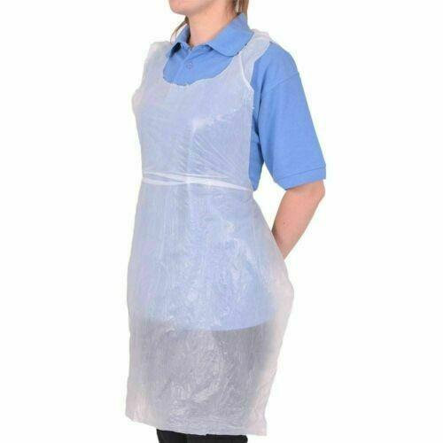 APRON DISPOSIBLE WHITE 500PCS