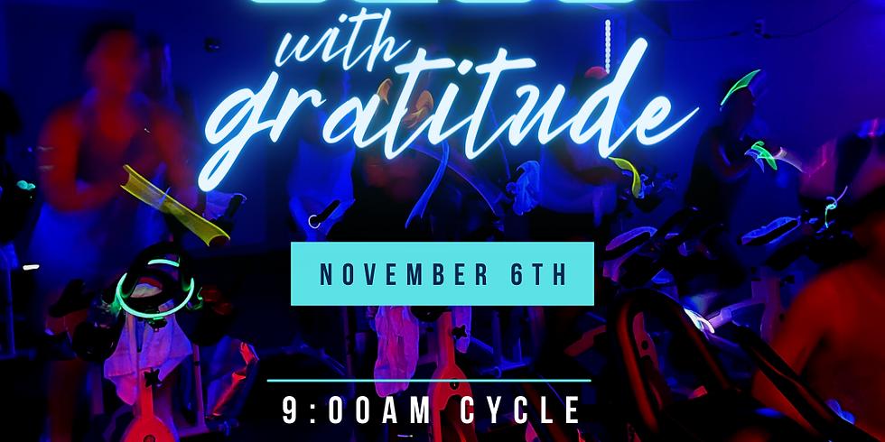 WE Glow With Gratitude RIDE