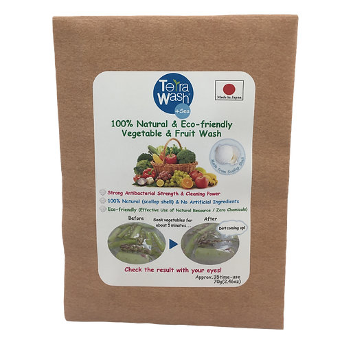 Terra Wash+Sea,100% Natural & Eco-friendly Vegetable Wash