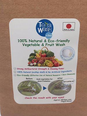 Terra Wash+Sea, natural and eco-friendly vegetable wash