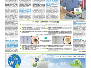 Terra Wash+Mg on Italian Newspaper