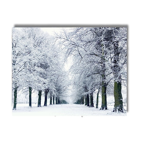 Glass Chopping Board / Placemat - Silence Of The Snow -Marbury Avenue