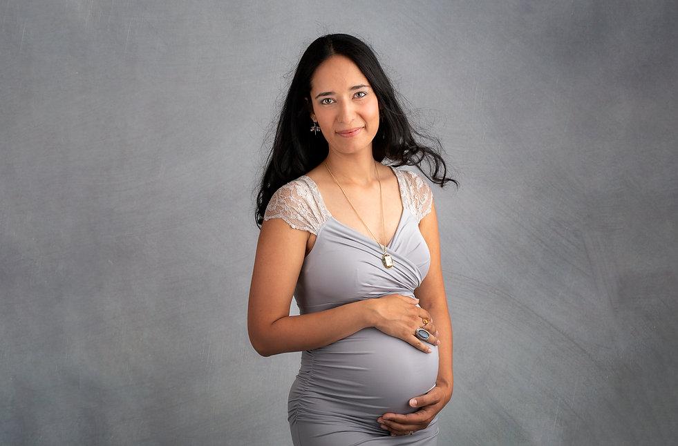 maternity gown portrait photo