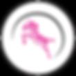 Pink Zebra_Just Zebra in Circle-Black Ri