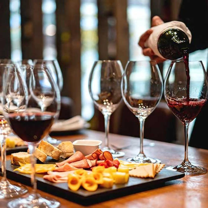 Fine Wine Tasting Event with small platters