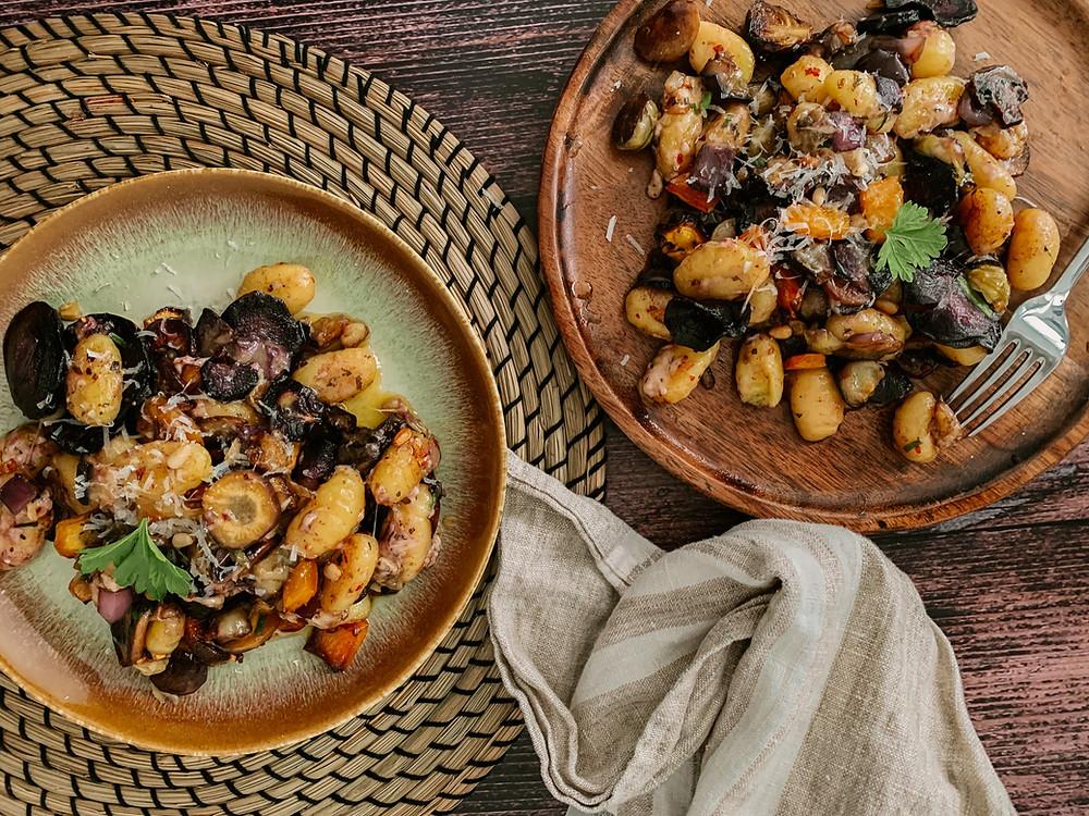 best gnocchi recipe, restaurant style veg gnocchi, butter parmesan gnocchi