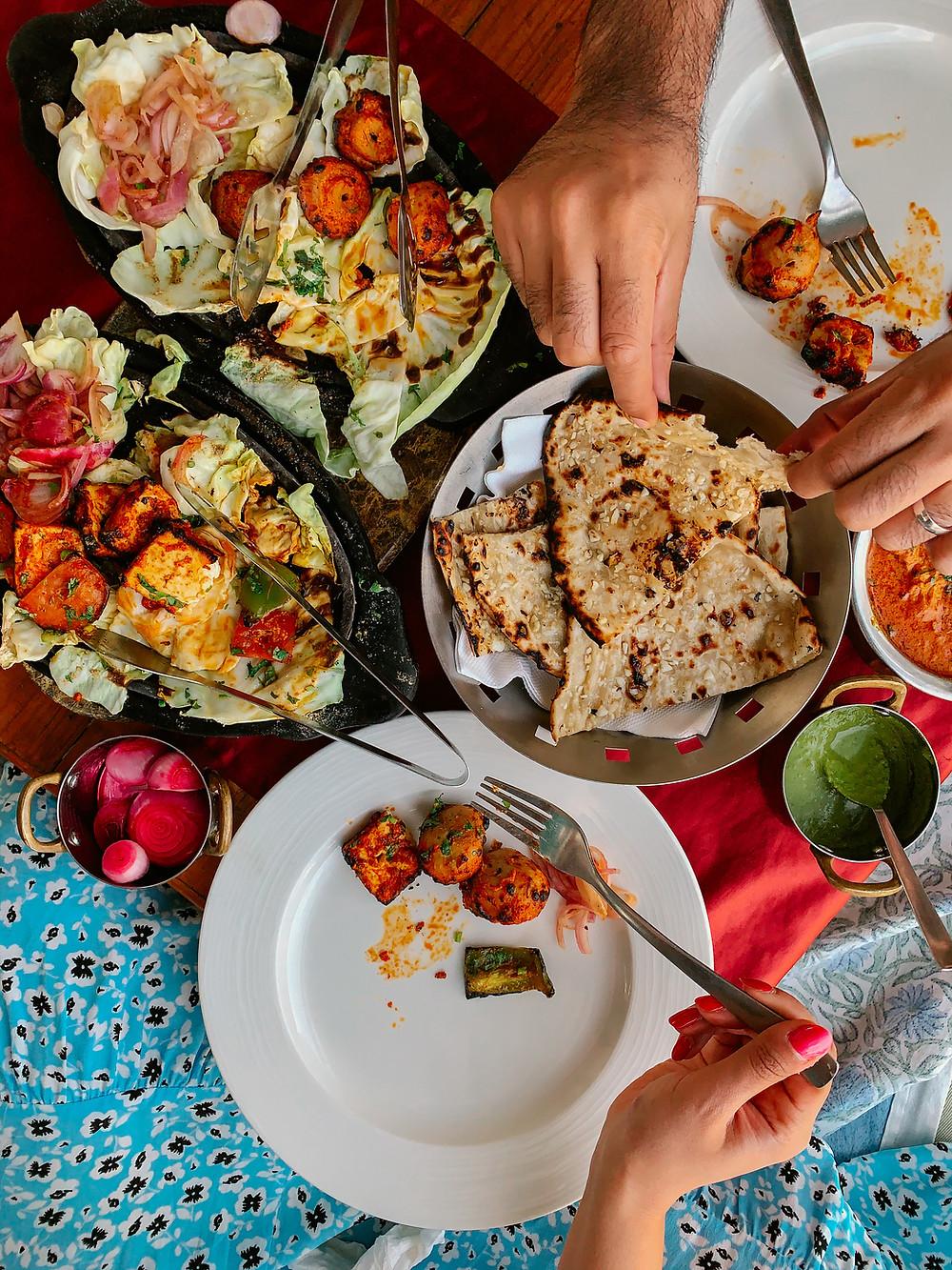 Khamma Ghani Restaurant chicken paneer indian food lakeside dining best restaurant udaipur
