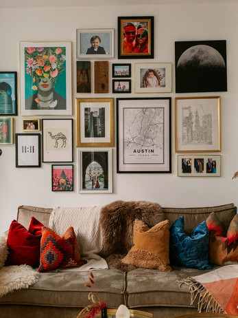 Creating An Eclectic Gallery Wall