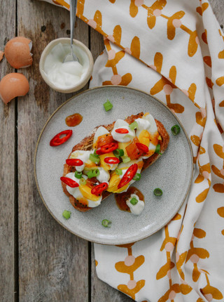 10 Days Of Toast - Day 7 - Eggs On Toast With Mango Chutney