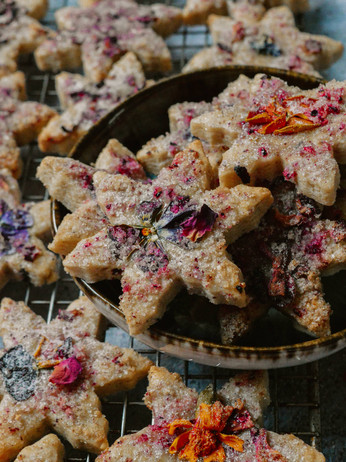 Hibiscus & Lemon Shortbread