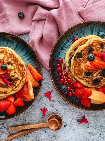 Blueberry & Lemon Ricotta Pancakes