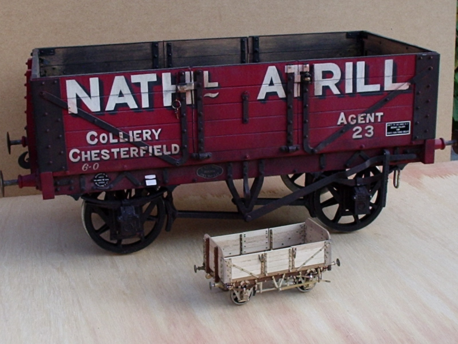 5 inch gauge and 7mm wagons