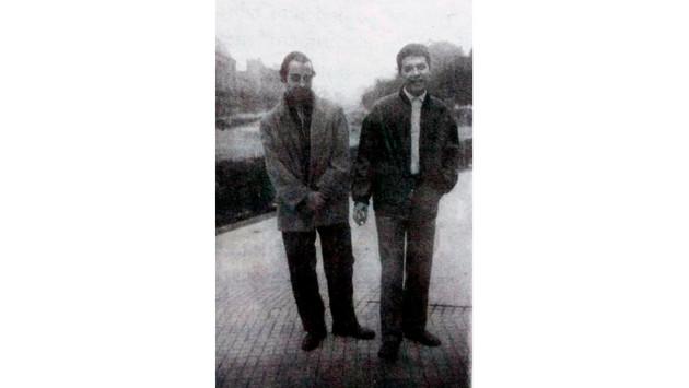 con Miguel Abuelo en Plaza San Martín  1966