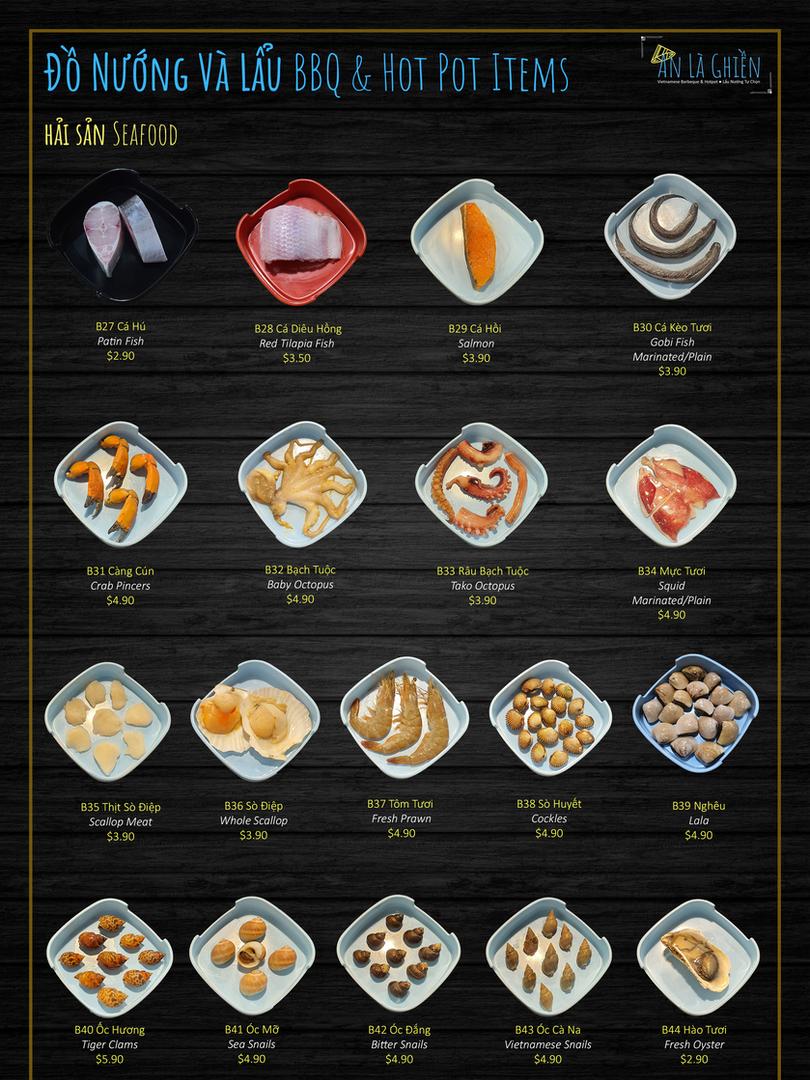 2b. BBQ Items Seafood
