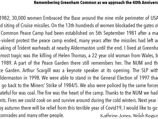 Remembering Greenham Common as we approach the 40th anniversary