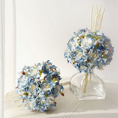 Blue Hydrangea Bundle Mulberry Paper Flower with Reed Diffuser B
