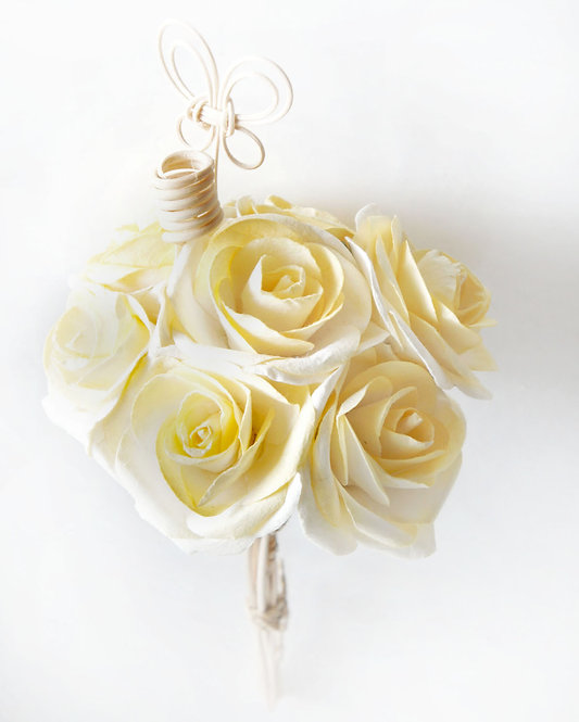 Yellow Rose Mulberry Paper Home  Fragrance  Diffuser Bouquet.