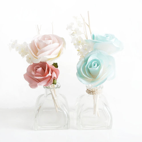 2 Set of Turquoise and Pink Rose Mulberry Paper  Diffuser .(2 s