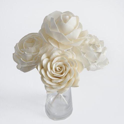 "Set of 4 DIY  3""  MIxed  Rose Dahlia Sola Flower for Home fragranc"