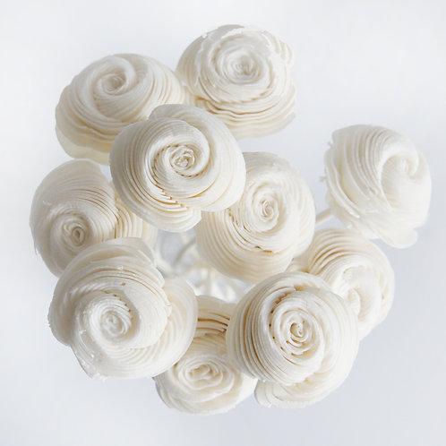 Set of 10 Spiral Rose Sola Flower for Home fragrance Diffuser.