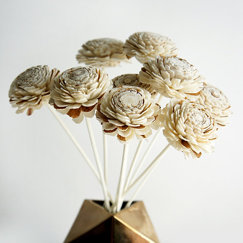 Set of 10 Two Tone Jasmine Flower for Home fragrance Diffuser.