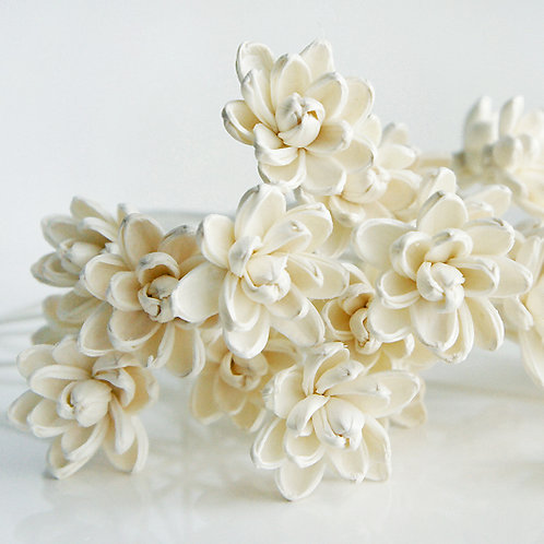 Set of 10 White Magnolia Flower for Home fragrance Diffuser.
