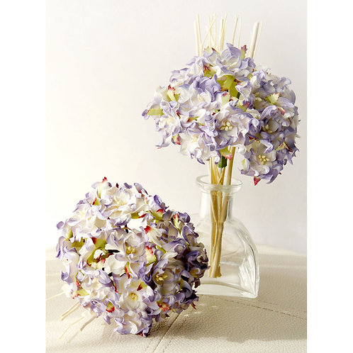 Light Purple Hydrangea Bundle Mulberry Paper Flower with Reed Diffuser Bouquet.