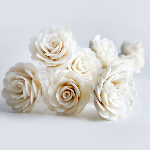 Set of 10 Damask Rose Sola Flower for Home fragrance Diffuser.
