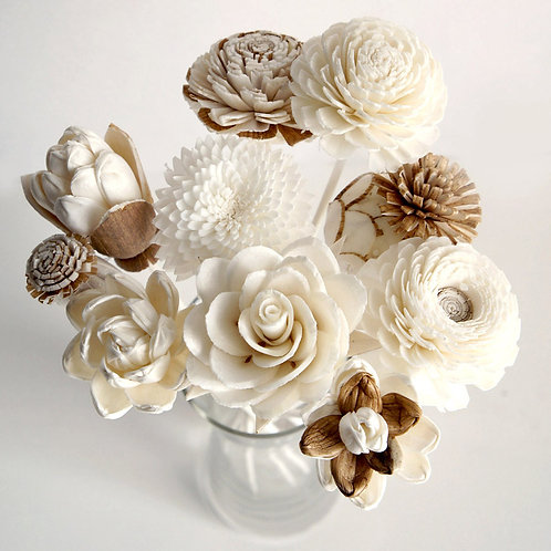 Set of 10 Mixed Sola Flower for Home fragrance Diffuser.
