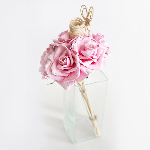 Sweet Pink  Rose Mulberry Paper Home  Fragrance  Diffuser Bouquet