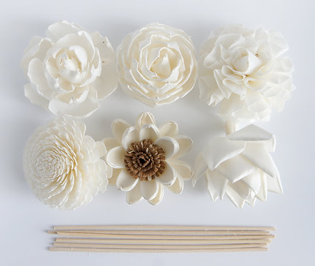 """Set of 6  DIY Mixed 3""""  Sola Flower for Home fragrance."""