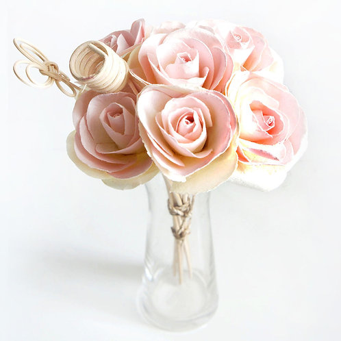 Pink Pale Rose Mulberry Paper Home  Fragrance  Diffuser Bouquet