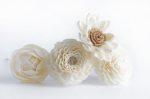 "Set of 4 DIY  3"" Sola Flower for Home fragrance Diffuser."