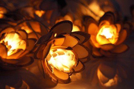 Two tone lotus sola string light