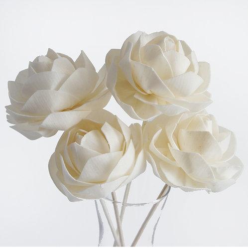 """Set of 4 DIY  3""""  Floribunda Rose Sola Flower for Home fragrance Diffu"""