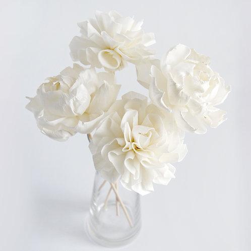 """Set of 4  DIY Camellias  Dahlia 3""""  Sola Flower for Home fragrance."""