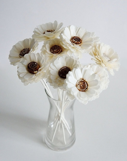 Set of 10 Daisy Sola Flower for Home fragrance Diffuser.