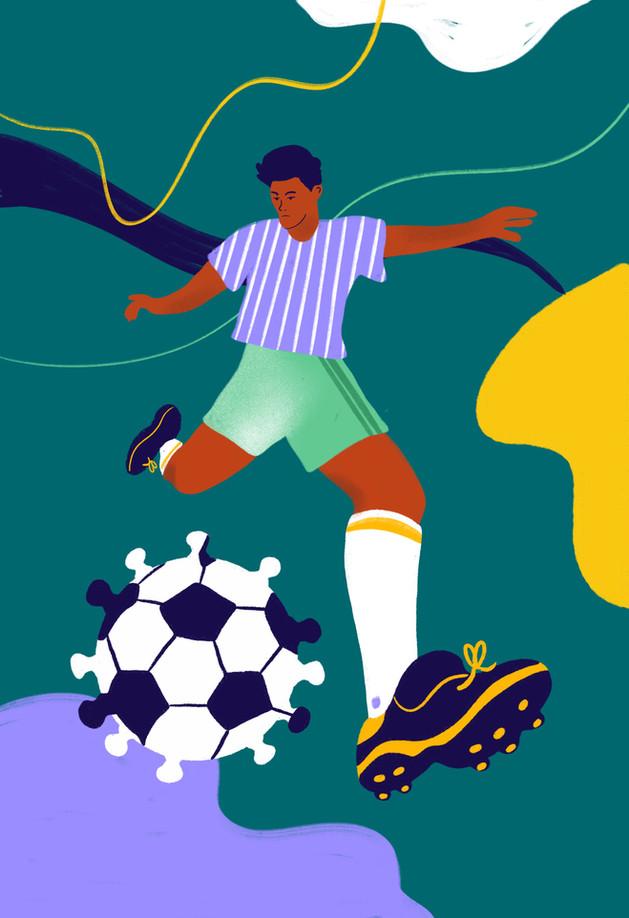 Perfil newspaper - Football cover