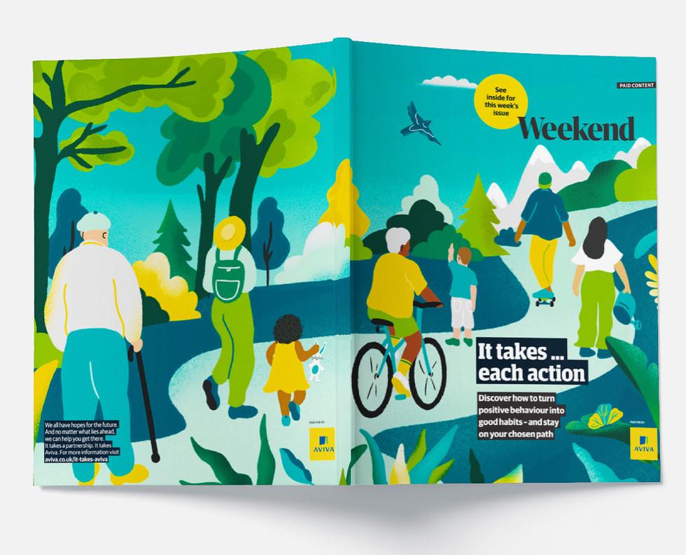 The Guardian x Aviva campaign