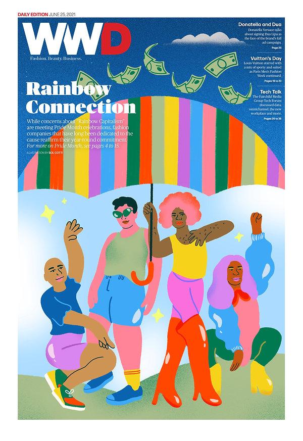 sol cotti - WWD cover - Rainbow Connecti